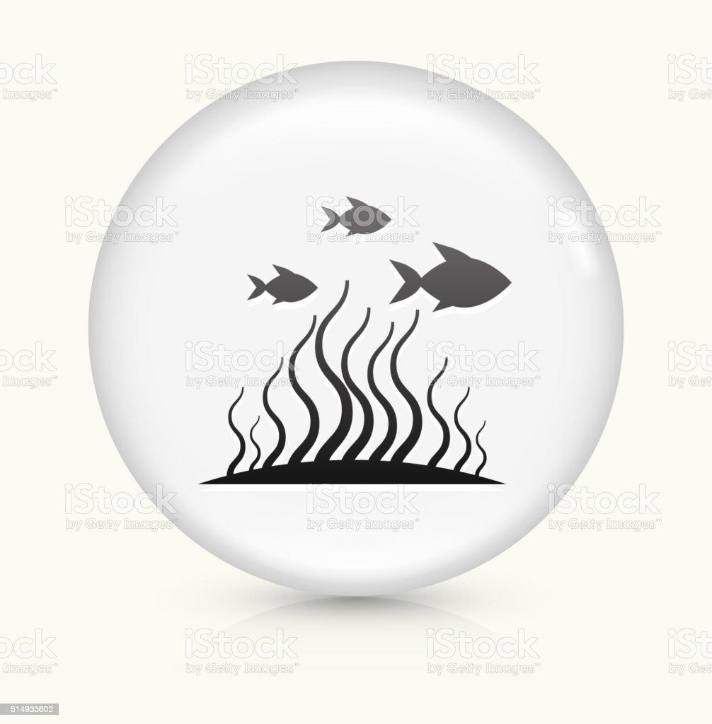 Marine Animals icon on white round vector button vector art illustration