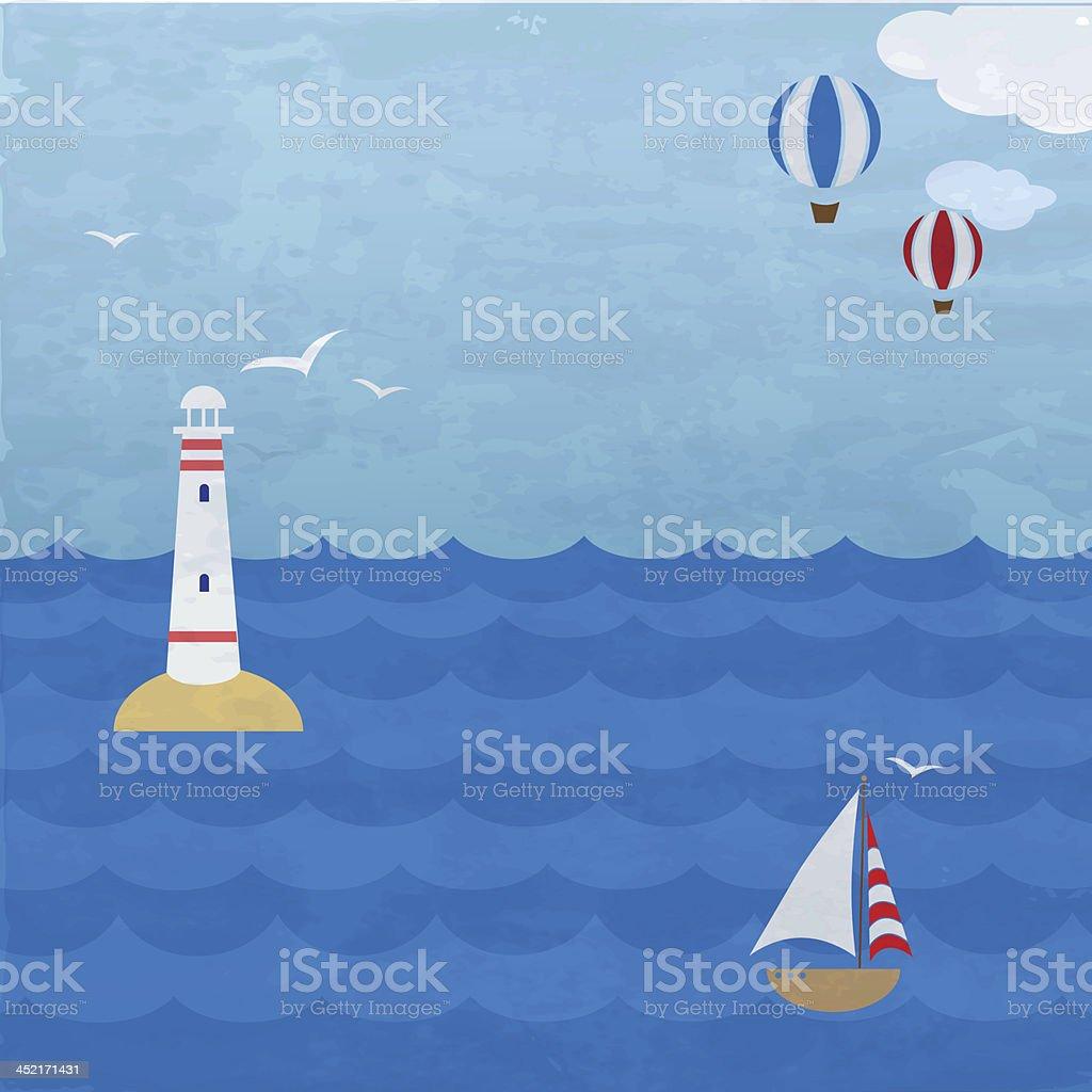 Marine background royalty-free stock vector art