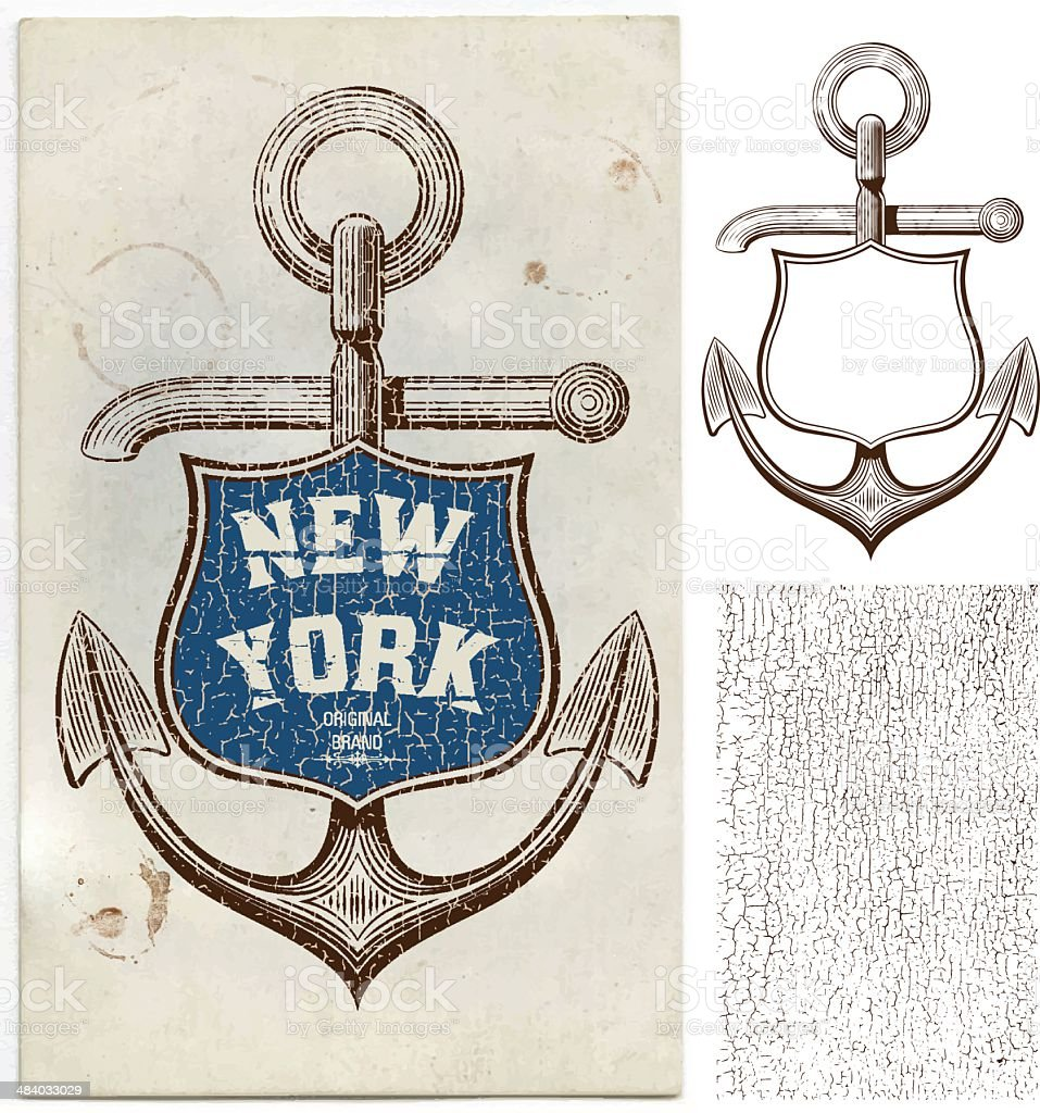 Marine Card royalty-free stock vector art