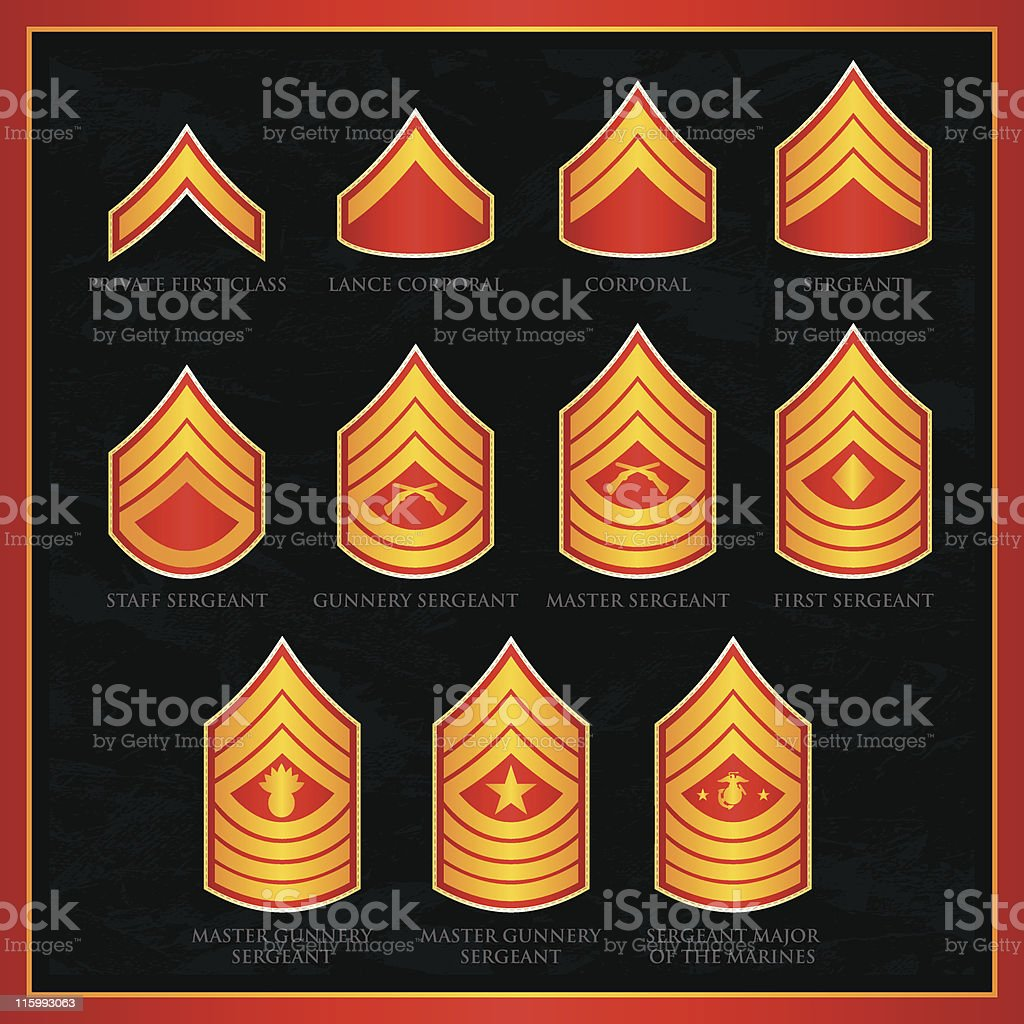 U.S. Marine Corps Badges royalty-free stock vector art