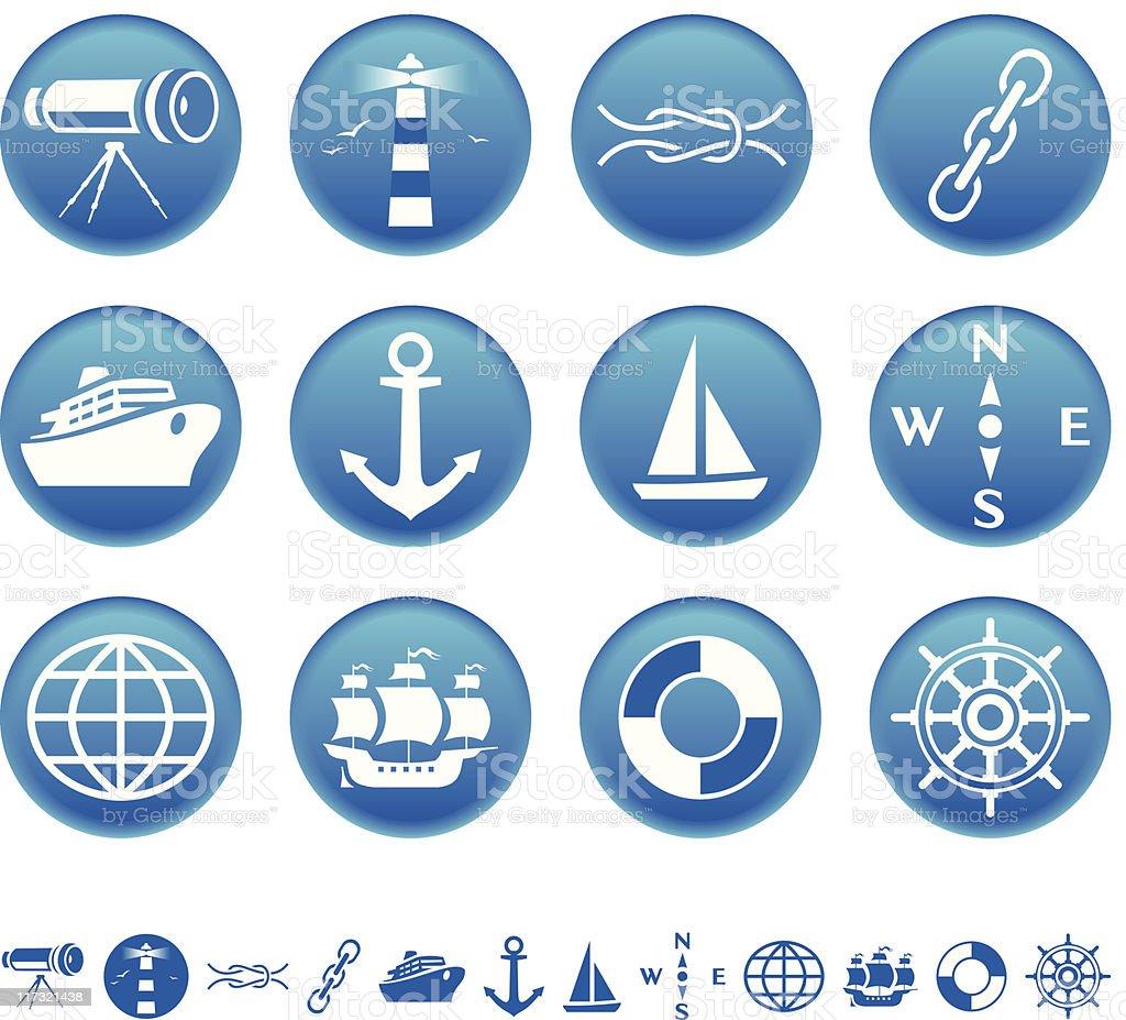 Icônes Marine stock vecteur libres de droits libre de droits