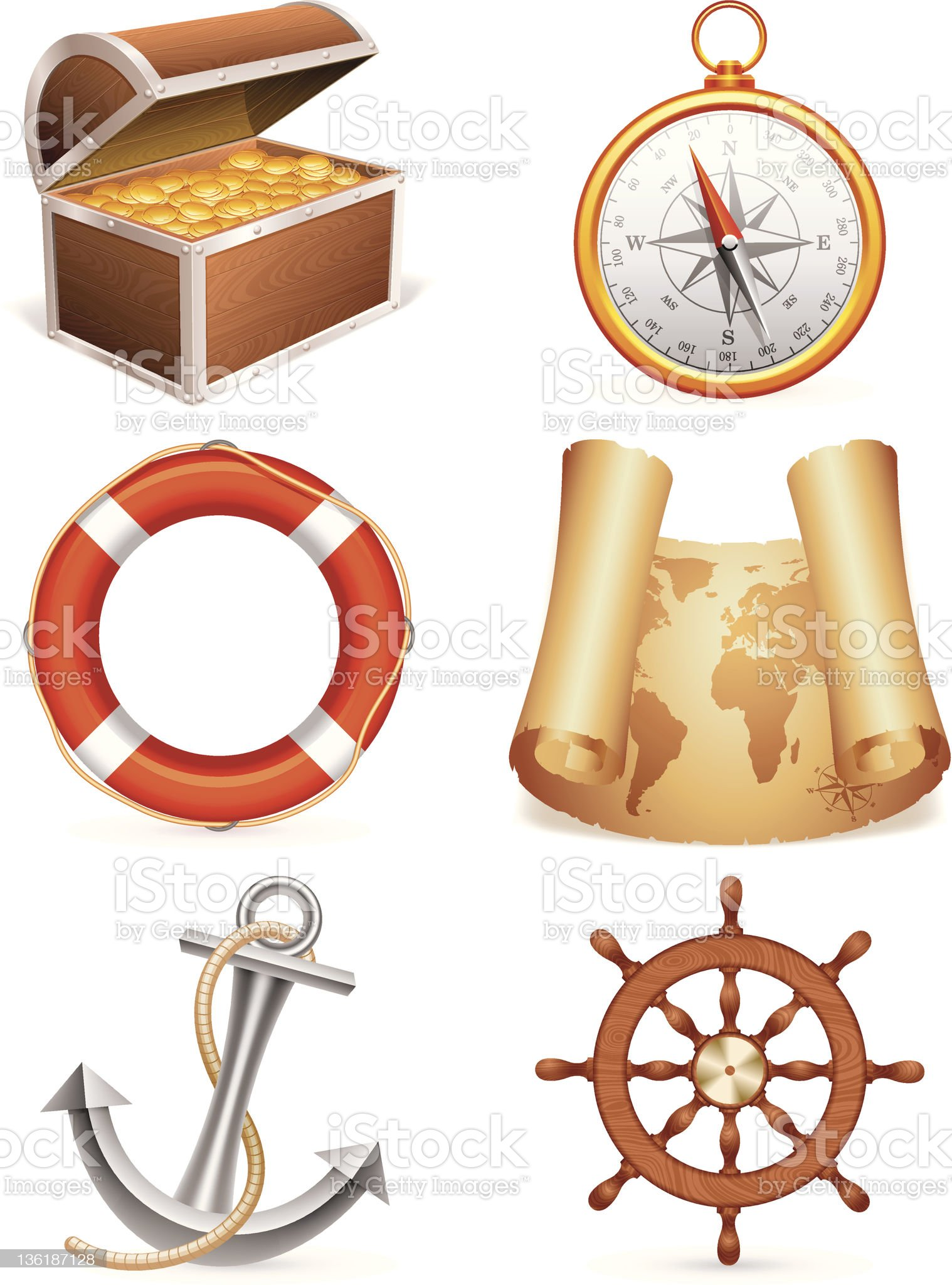 Marine icons. royalty-free stock vector art