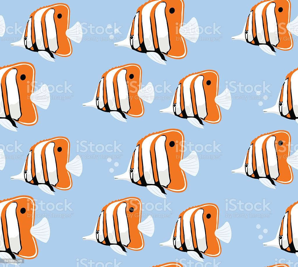 Marine life seamless pattern.  Vector illustration vector art illustration