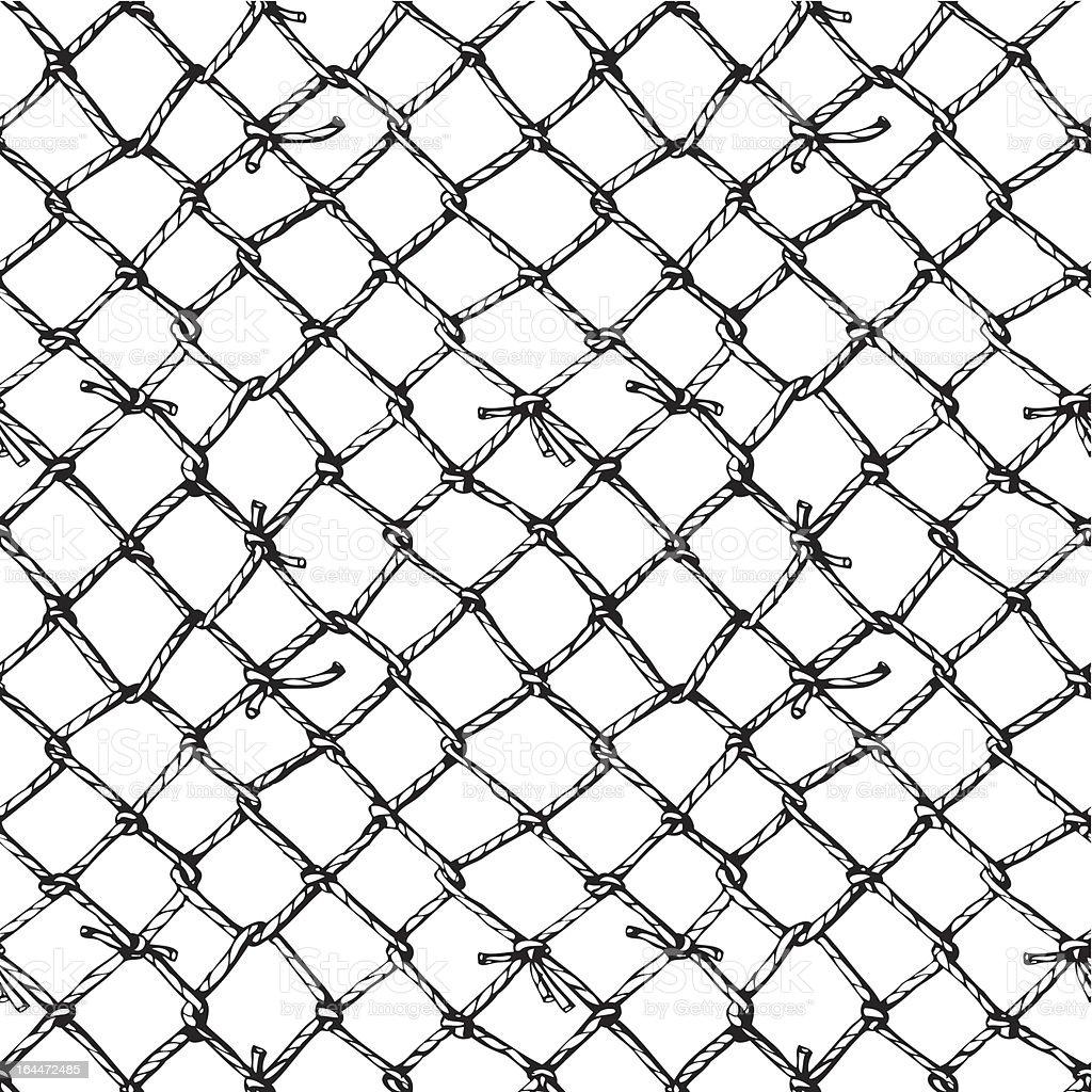 marine net vector art illustration