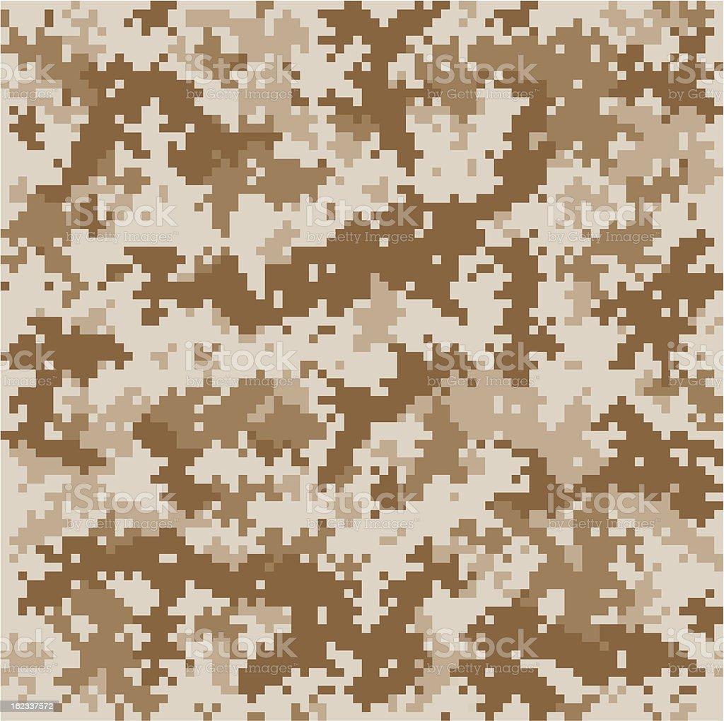 Marine Pixelated Camo vector art illustration