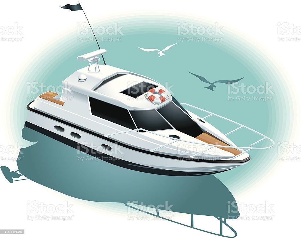 Marine recreation vector art illustration