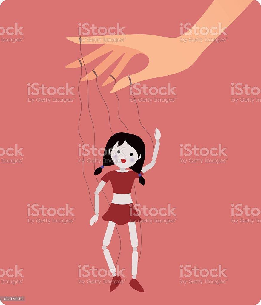 Marionette doll. Vector illustration vector art illustration