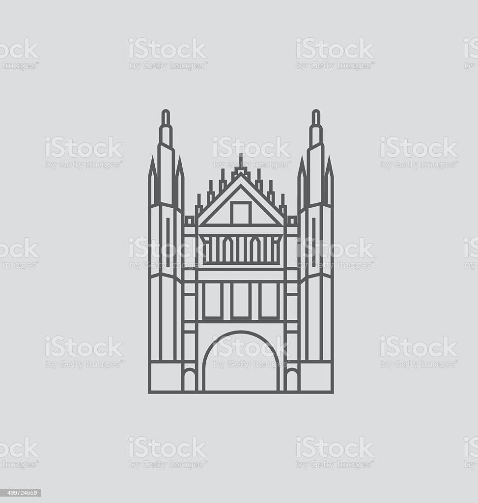 Marischal College line Illustration vector art illustration
