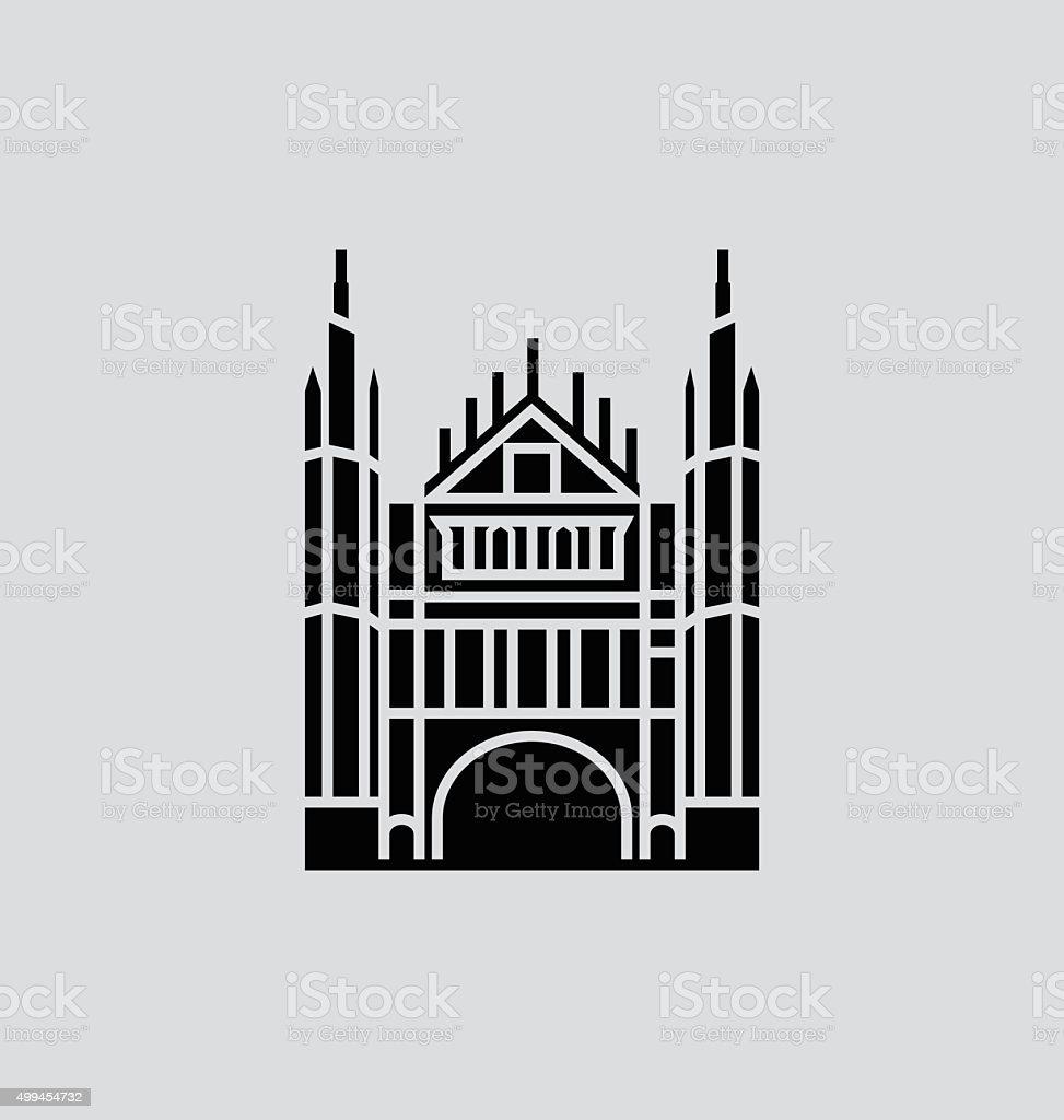 Marischal College Solid Vector Illustration vector art illustration