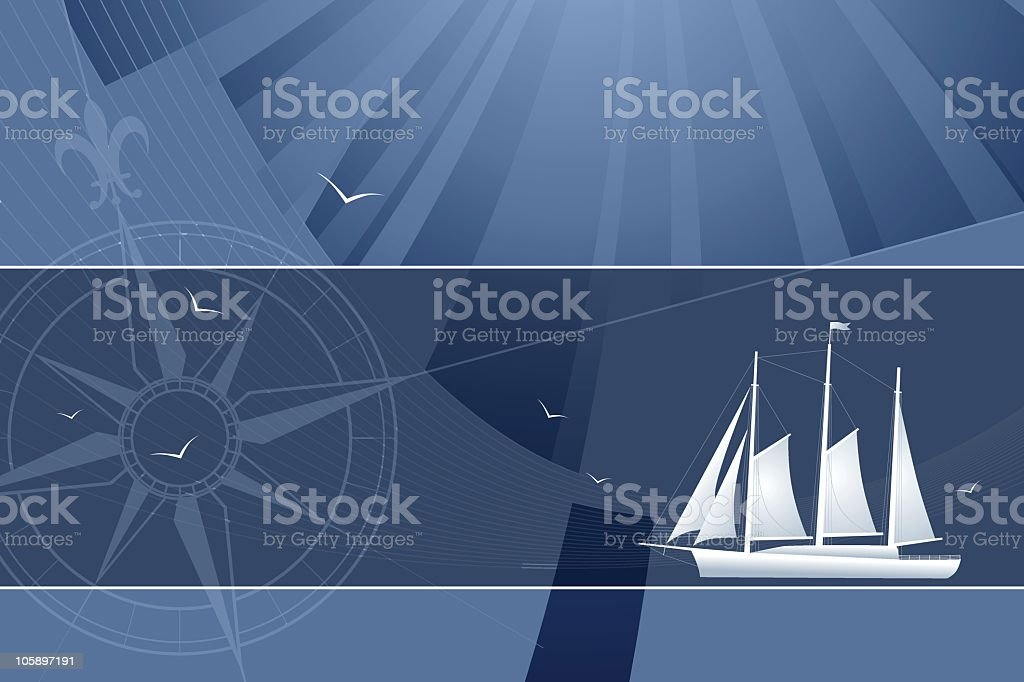 maritime abstract vector art illustration