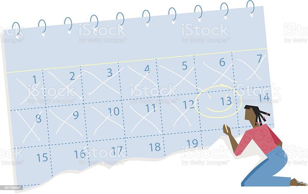 Mark your calendar vector art illustration