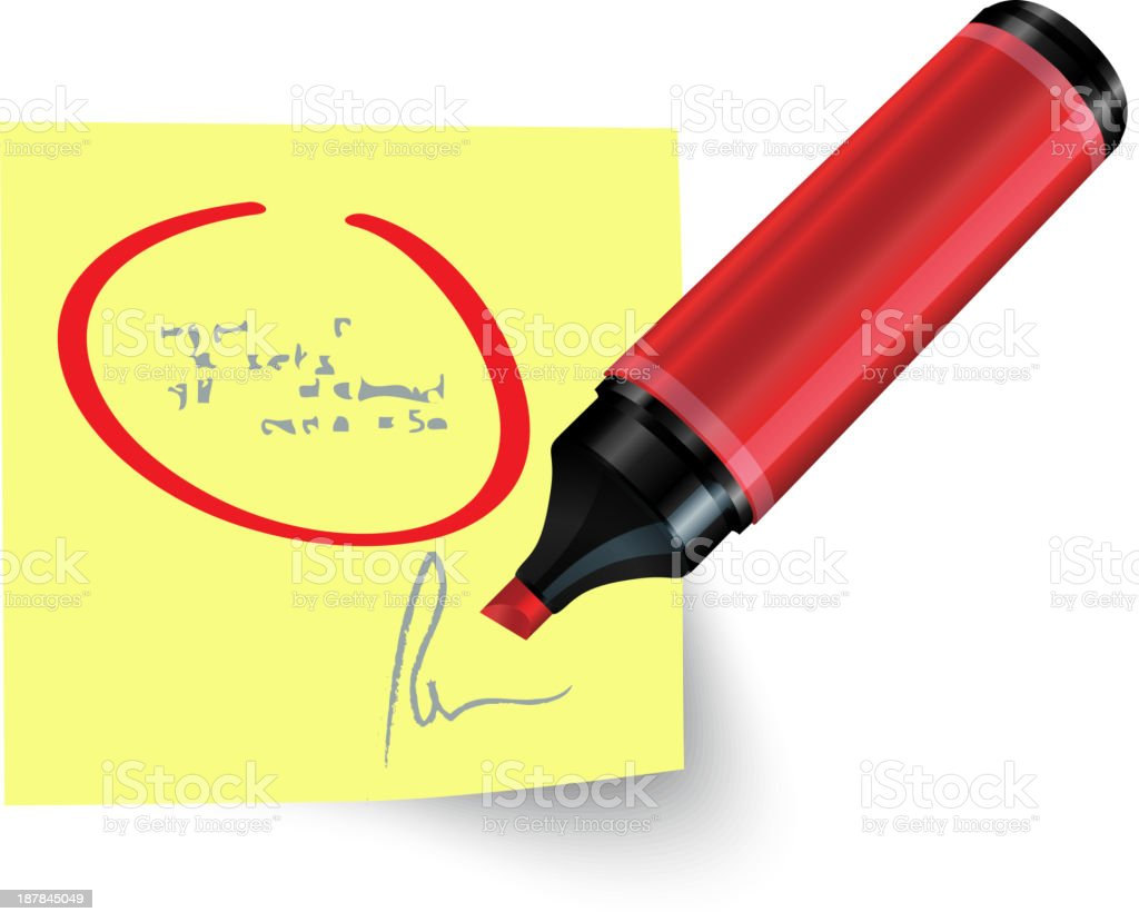 Marker Note royalty-free stock vector art