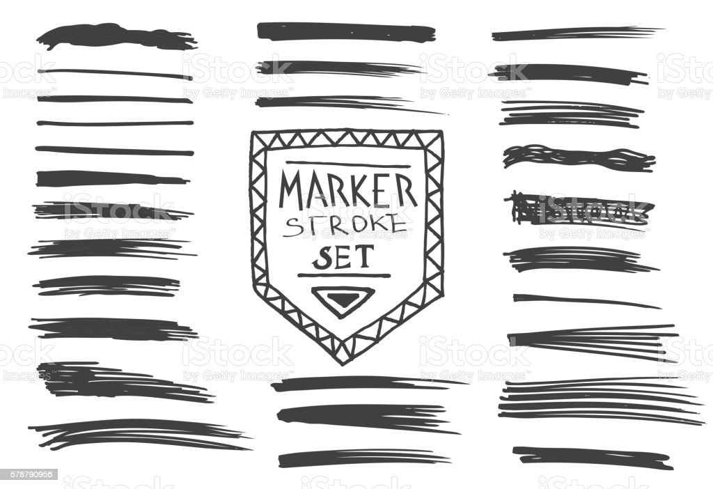 Marker Set vector art illustration