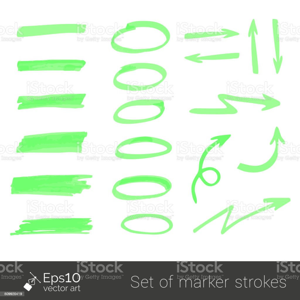 Marker strokes vector art illustration