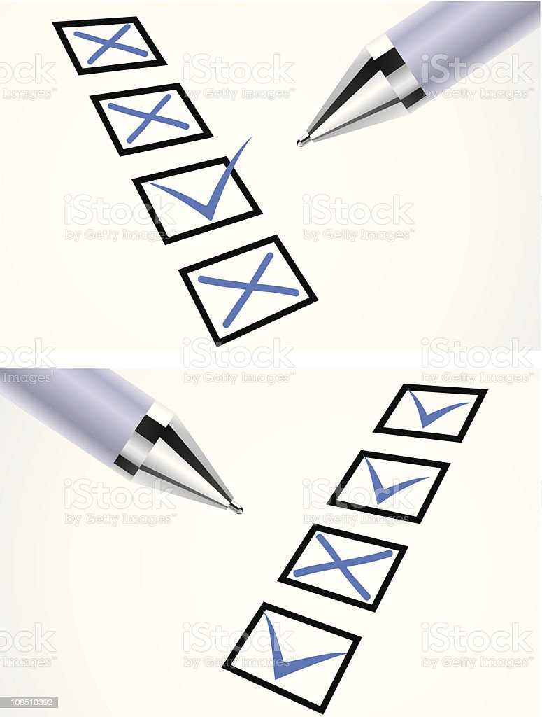 Markers pen on paper royalty-free stock vector art