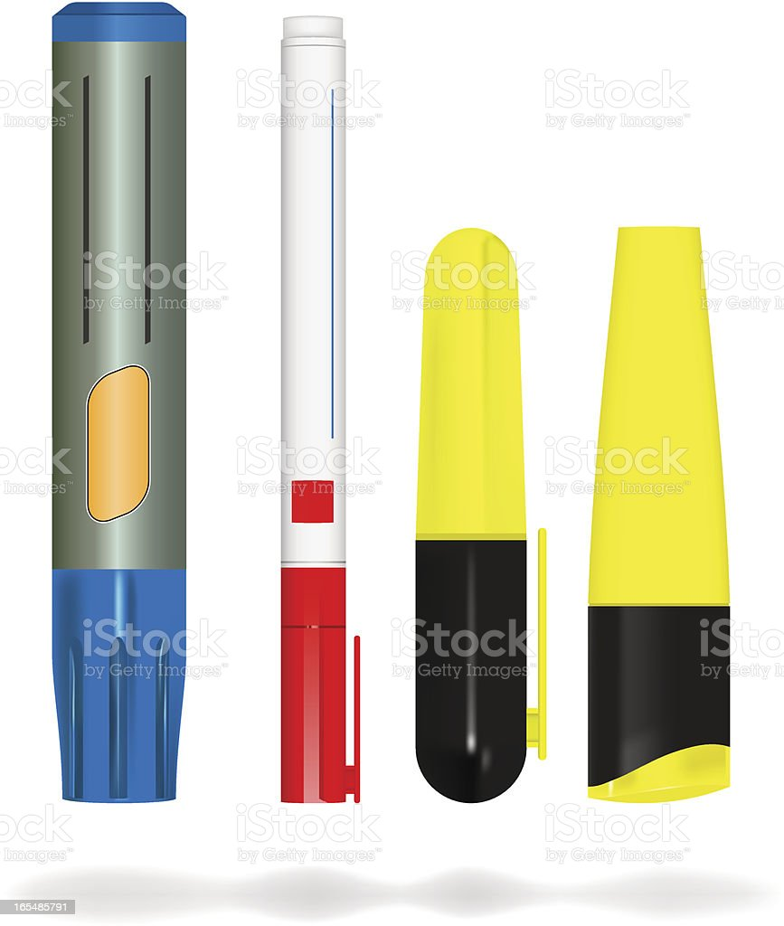 markers royalty-free stock vector art