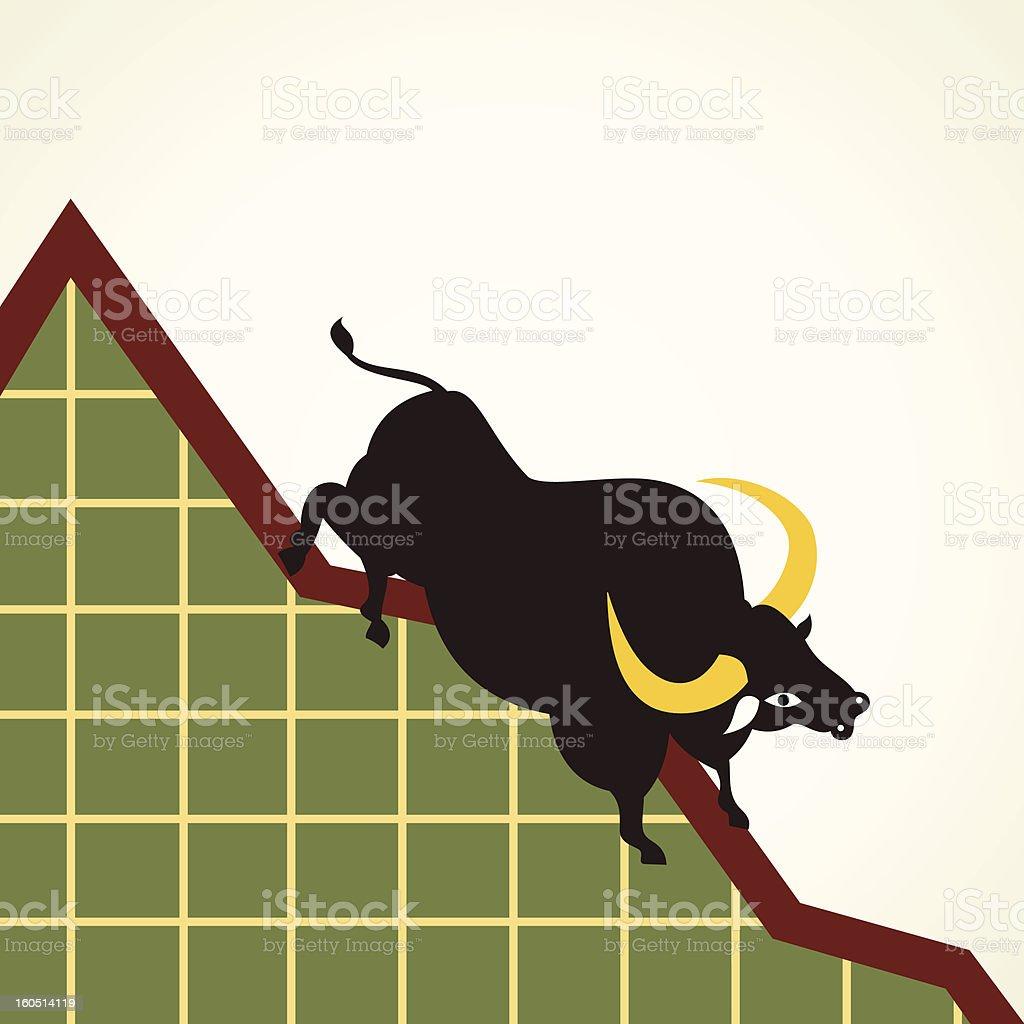 market crash concept royalty-free stock vector art