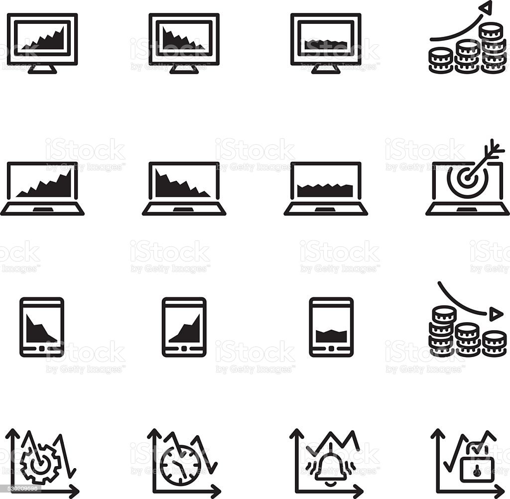 market icon set vector art illustration