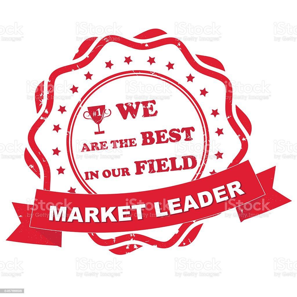 Market leader printable label vector art illustration