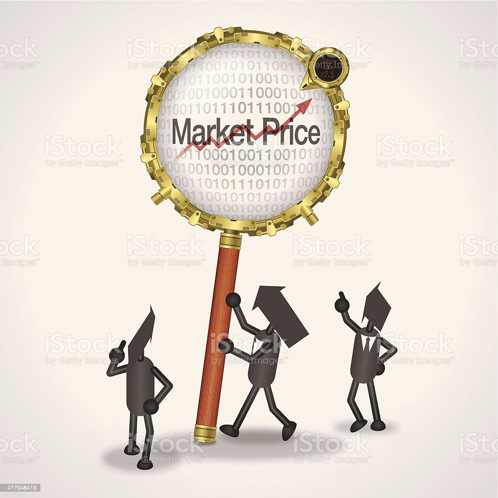 Market price royalty-free stock vector art