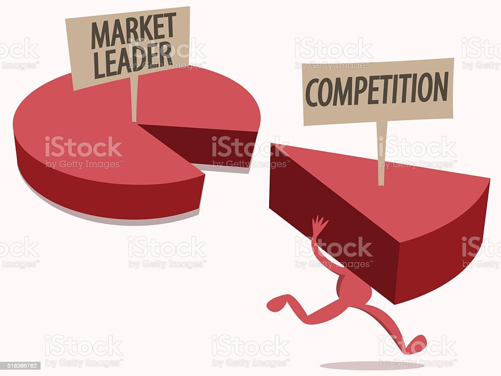 Market Share Competition vector art illustration
