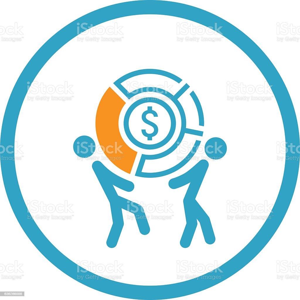 Market Share Icon. Business Concept. Flat Design. vector art illustration
