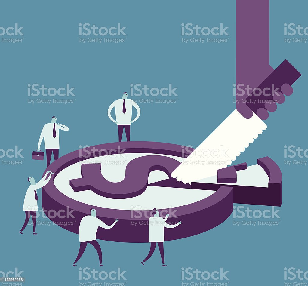 Market share royalty-free stock vector art