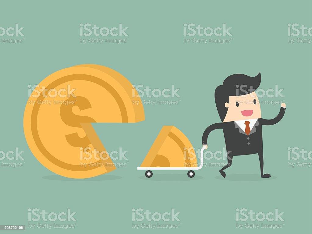 Market share vector art illustration