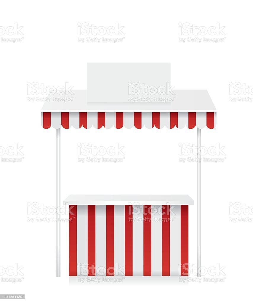 Market stall illustration vector art illustration