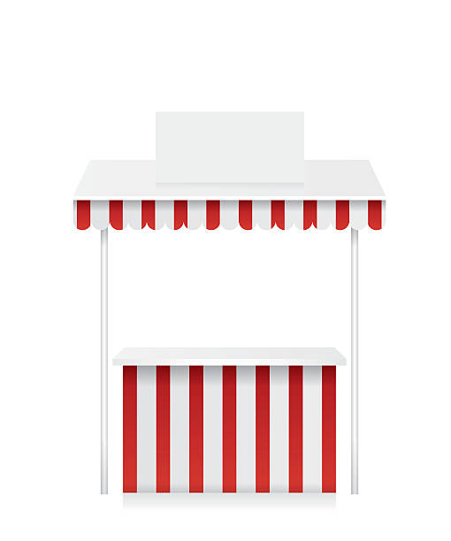 Market Stall Clip Art, Vector Images & Illustrations - iStock