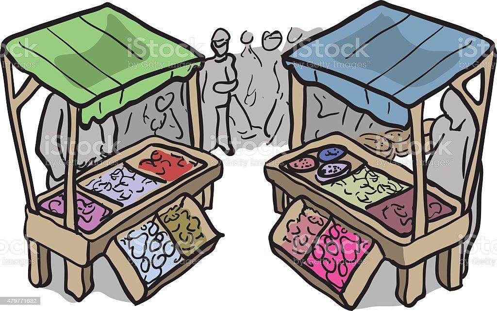 market vector art illustration