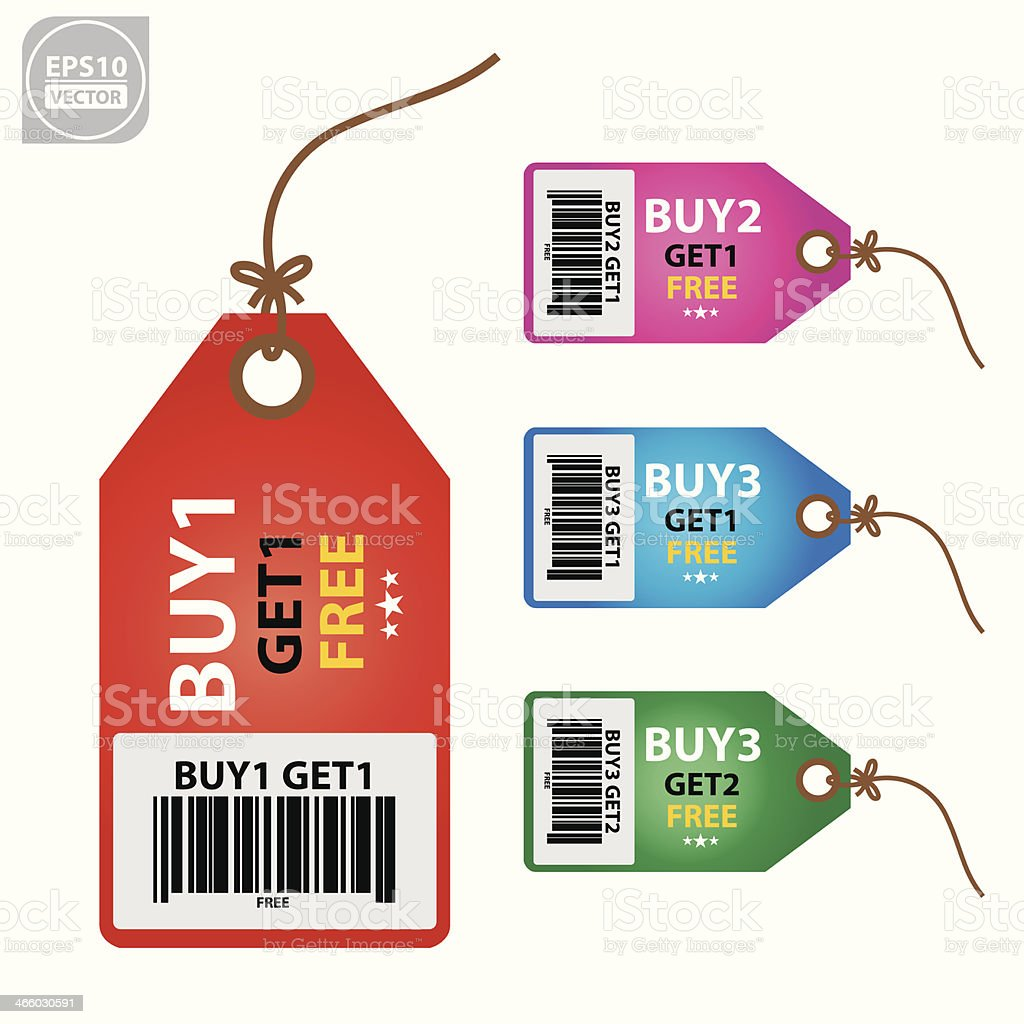 Marketing campaign tag. vector art illustration