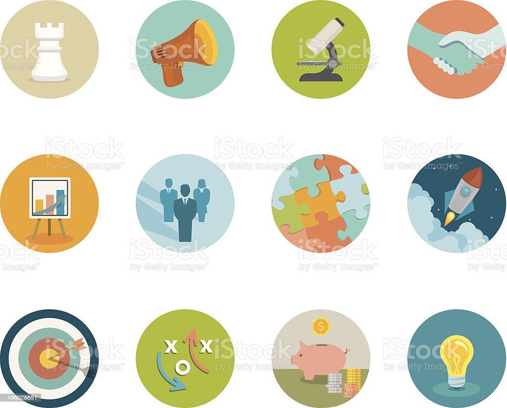 Marketing Circle Icons vector art illustration