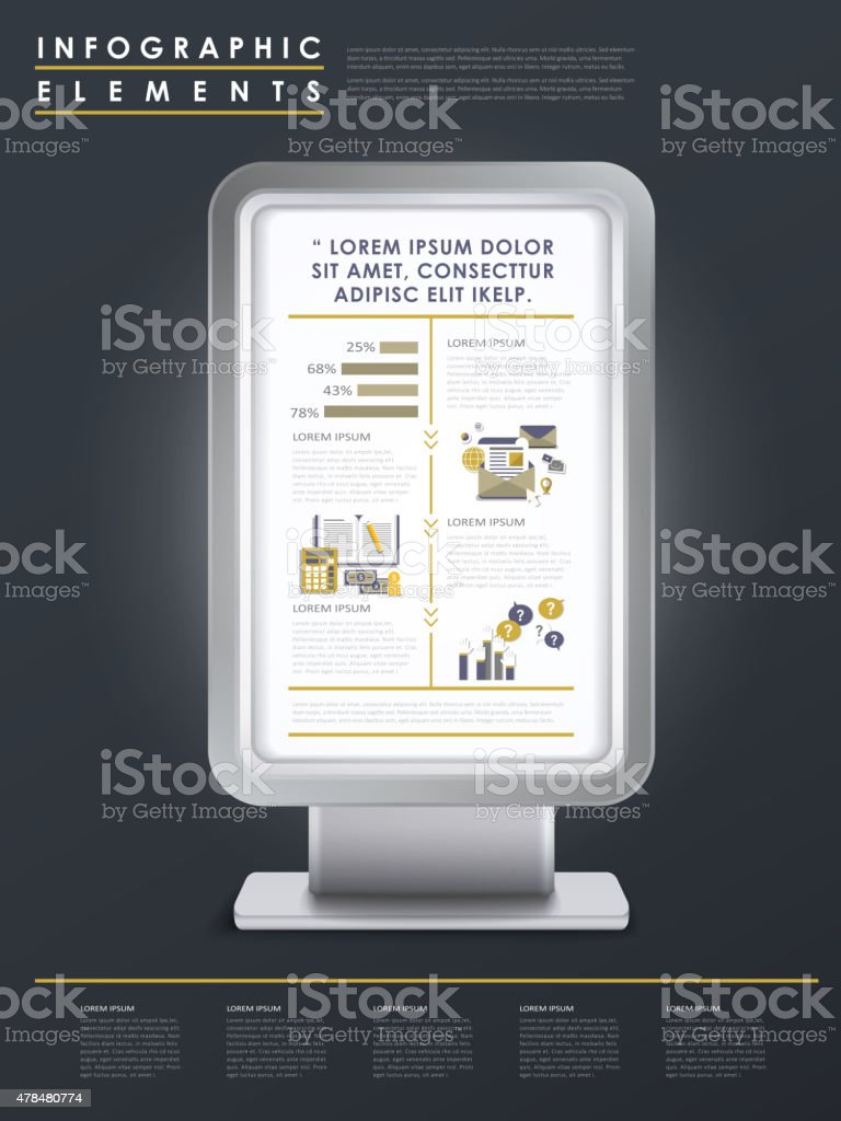 marketing concept infographic template design vector art illustration