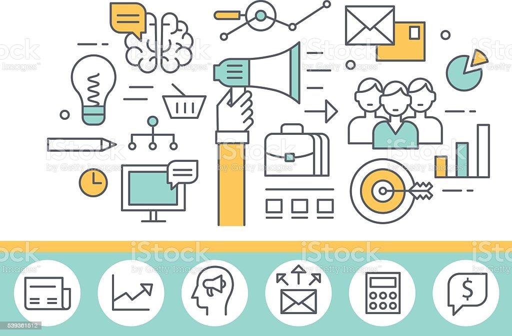Marketing concept vector art illustration