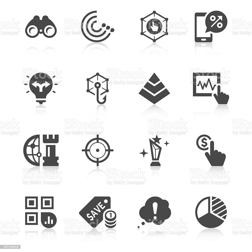 Marketing Icon Set | Unique Series vector art illustration