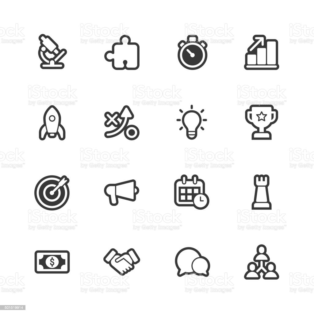 Marketing icons - Regular Outline vector art illustration