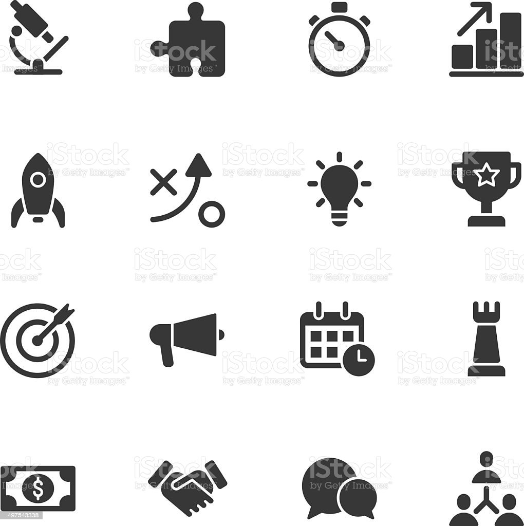 Marketing icons - Regular vector art illustration