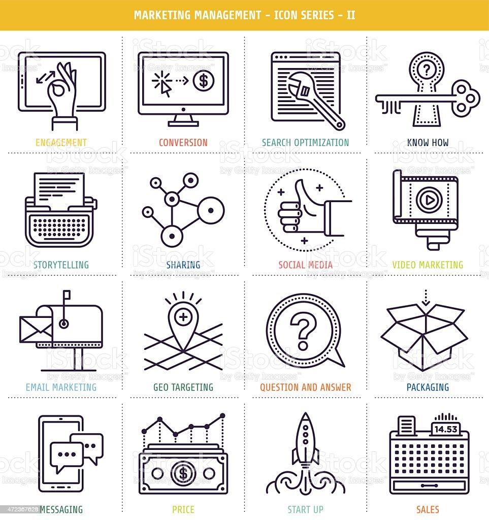Marketing Management vector art illustration