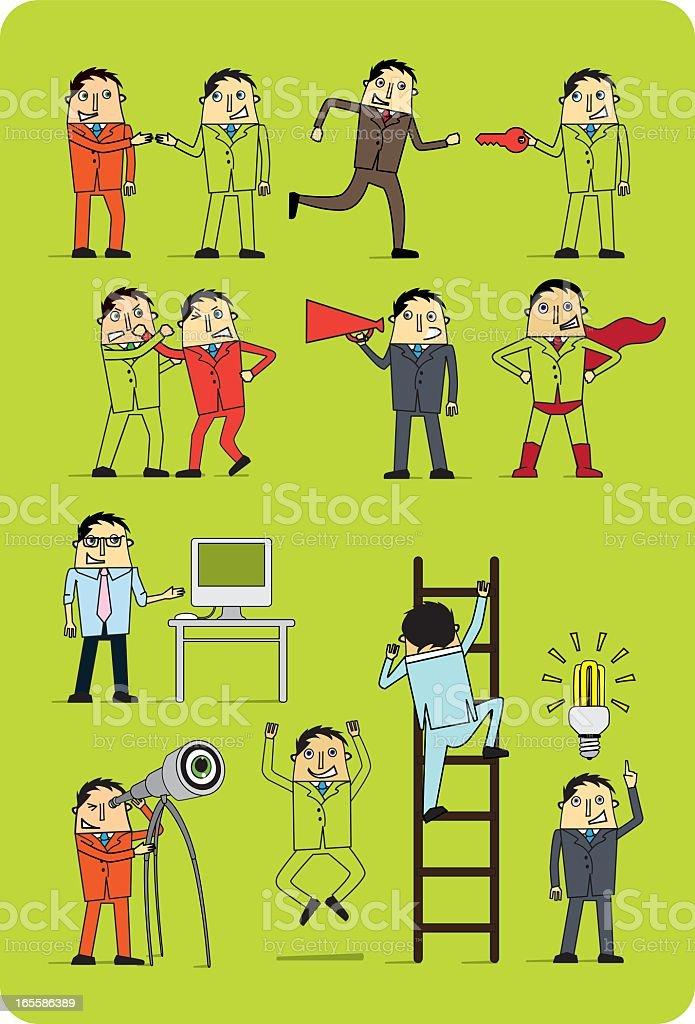 Marketing Men royalty-free stock vector art