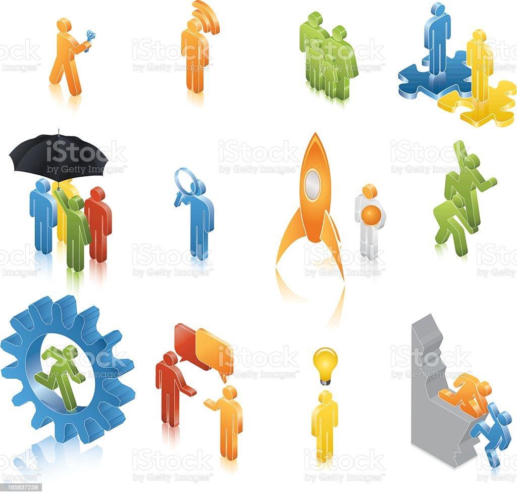 ISO ICON – Marketing Men royalty-free stock vector art