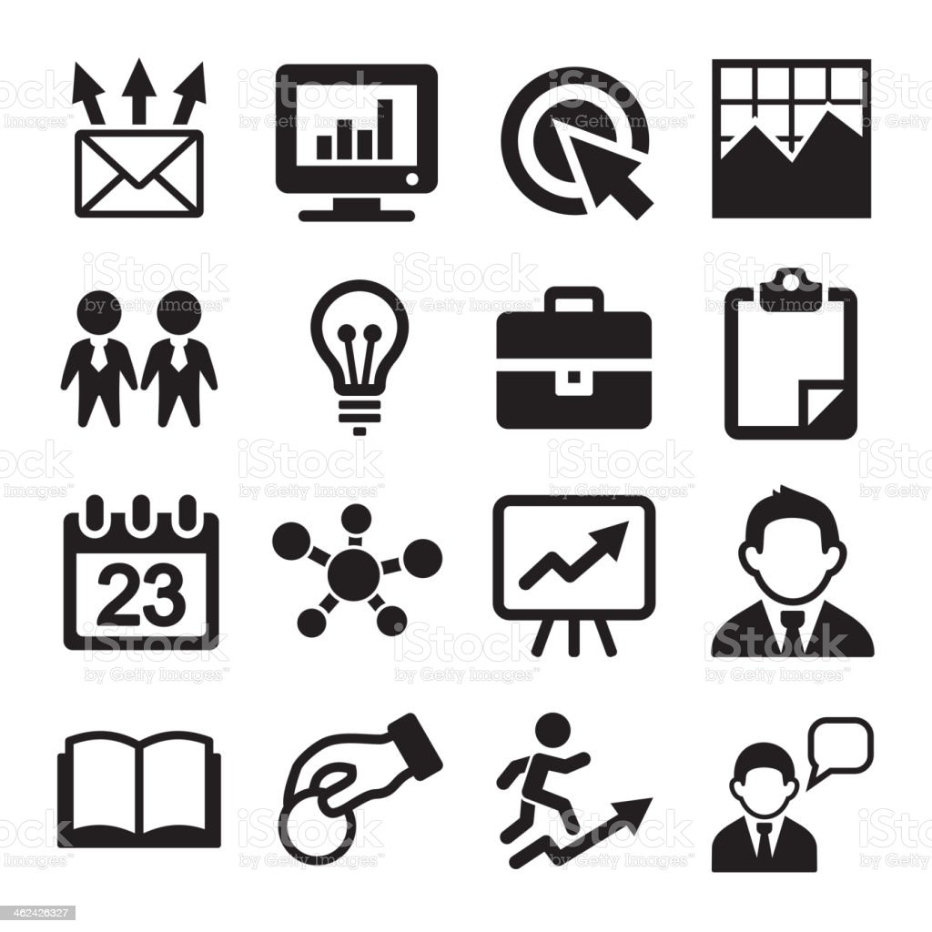 Marketing, SEO and Development icons set royalty-free stock vector art