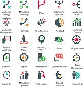 Marketing Strategy Icons - Color Series (Set 1)