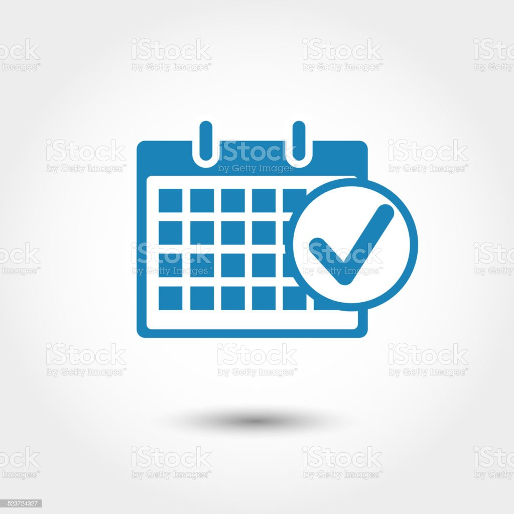 Marks calendar icon vector art illustration
