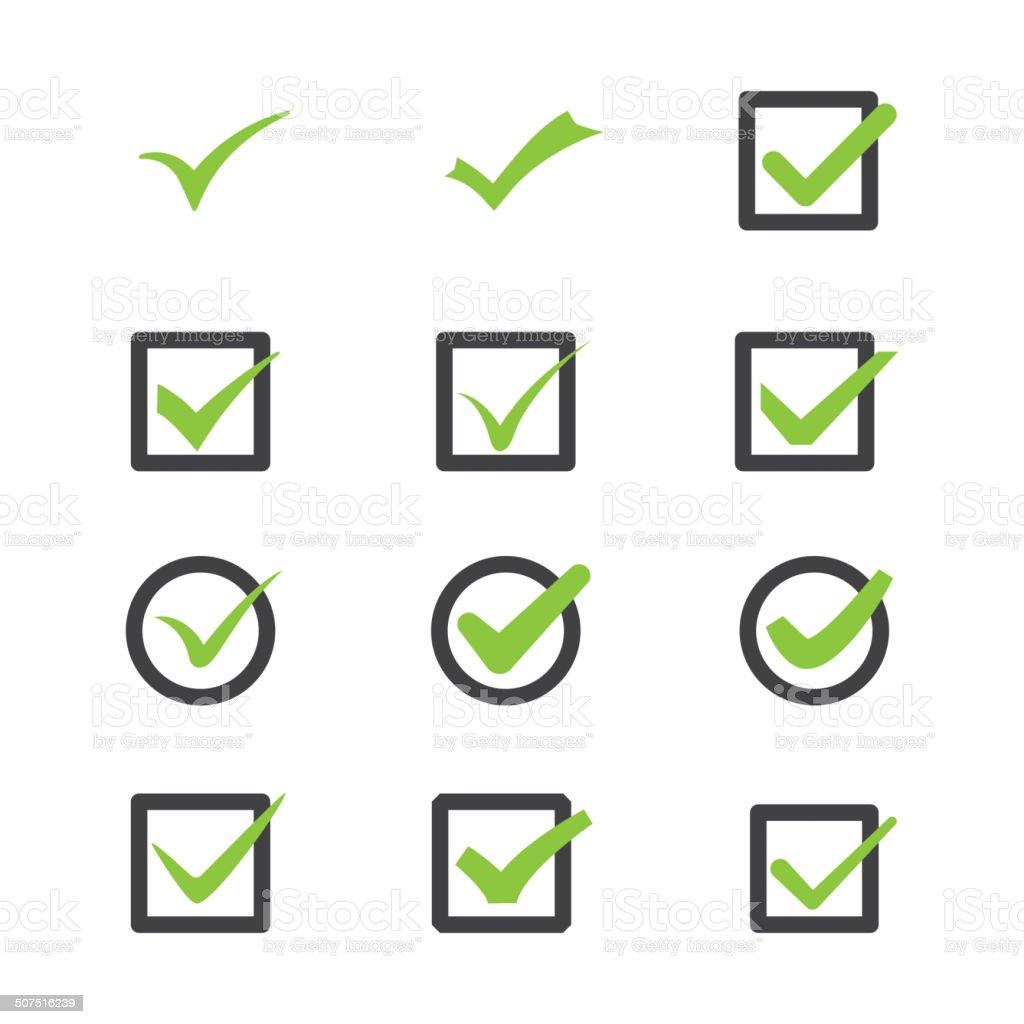marks of approval vector art illustration