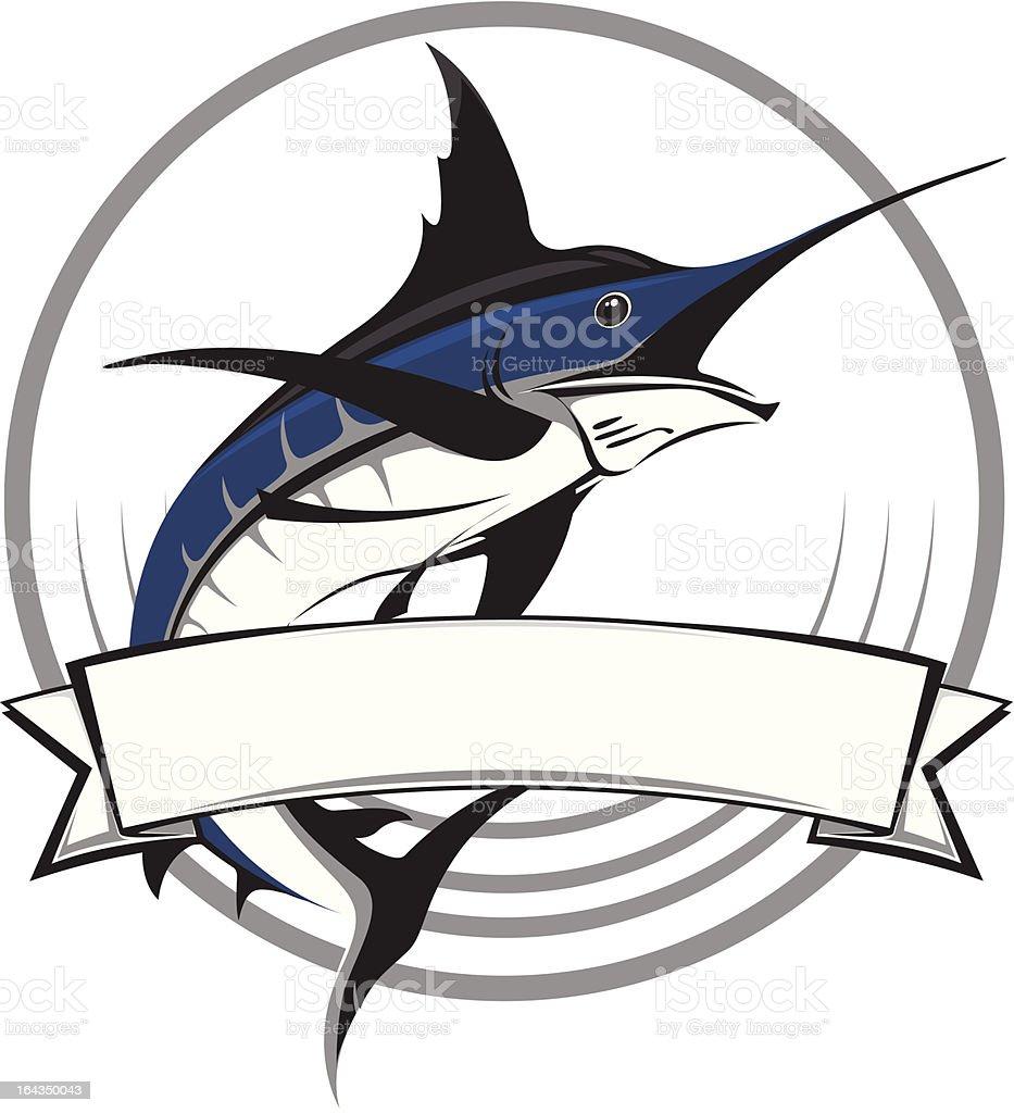 Marlin vector logo vector art illustration