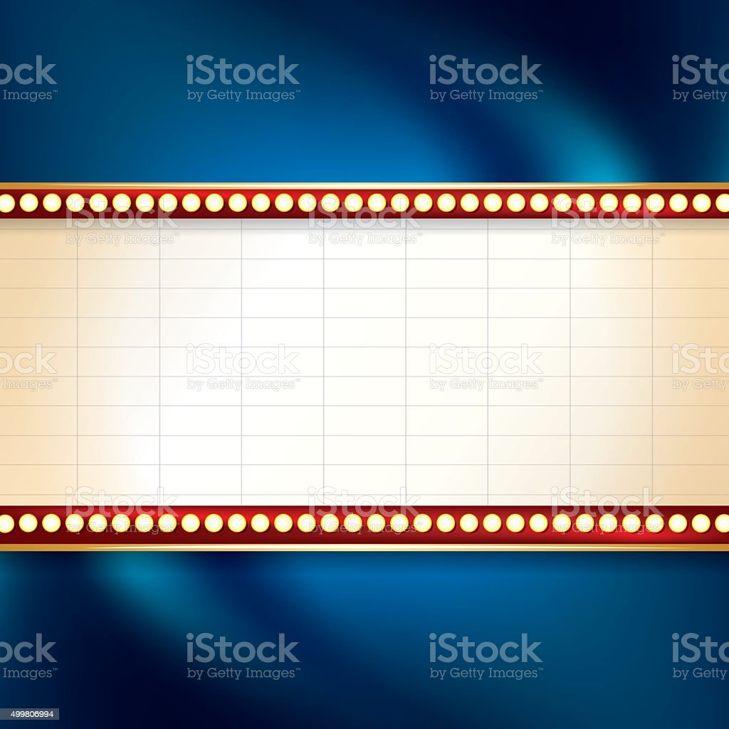 Marquee Background vector art illustration