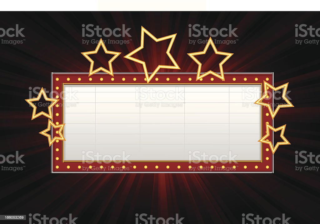 Marquee Banner vector art illustration