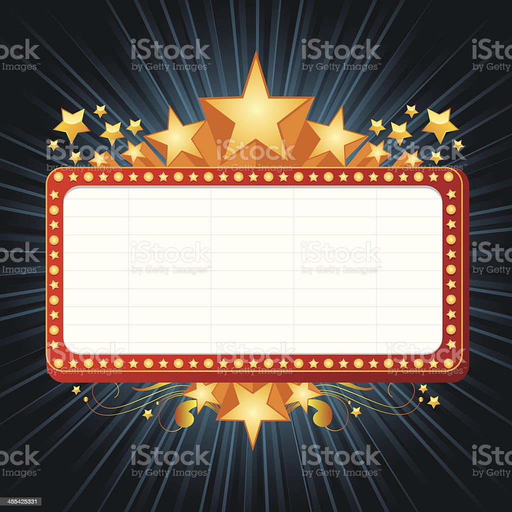 Marquee Banner royalty-free stock vector art