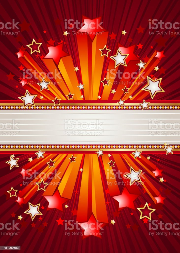 Marquee Banner with Arrows royalty-free stock vector art